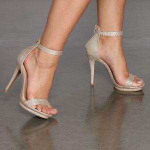 Windsor All That Glitters Gold Stiletto Heels 5.5